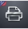 Print icon symbol 3D style Trendy modern design vector image