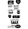 sale hand drawn word tag vector image