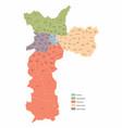 Sao paulo city colorful map