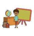 school education boy cartoon vector image