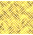 seamless geometric textured golden pattern vector image