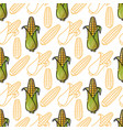 seamless pattern with corn background vector image vector image