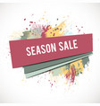 season-sale-splash-pink vector image vector image