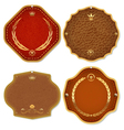 Set of leather gold premium quality labels and vector image