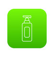 shampoo dispenser icon green vector image vector image