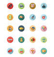 Shopping Flat Colored Icons 3 vector image vector image