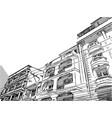sketch of building vector image