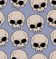 Skull seamless background Many skulls pattern vector image vector image