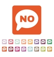 The NO speech bubble icon Social network and web vector image vector image