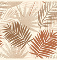 tropical seamless pattern with terracotta dotted vector image vector image