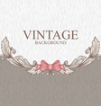Vintage background with ornaments and a bow vector image