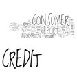 what you should know about consumer credit vector image vector image