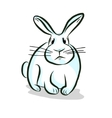 White rabbit hand drawing vector image