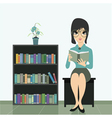 woman reading vector image vector image