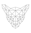 polygonal cat silhouette vector image