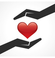 Save heart concept vector image