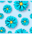 flower seamless pattern background with realistic vector image