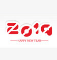 2019 happy new year simple writing with shading vector image vector image