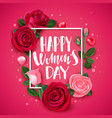 8 march card with rose congratulations vector image vector image