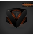 abstract black 3d cube vector image vector image