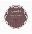 ancient vintage inviting greeting card brown the vector image vector image