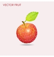 Apple pattern background vector image vector image