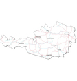Austria Black White Map vector image vector image