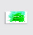 banners with green watercolor splash vector image vector image