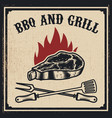 Barbecue and grill grilled meat with fork and
