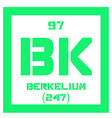 Berkelium chemical element vector image vector image