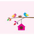bird family vector image vector image