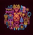 birthday neon concept vector image