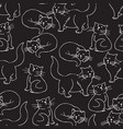 black cats seamless pattern vector image vector image