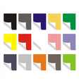 blank colorful paper sheets vector image vector image