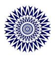 blue flower mandala vector image vector image