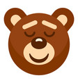 brown teddy bear head icon isolated vector image vector image