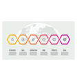 business process timeline infographics with 6 vector image vector image