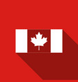 canada flag icon isolated with long shadow vector image