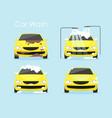 car washing concept vector image
