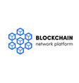 cloud blockchain cryptocurrency server logo vector image vector image
