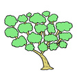 comic cartoon tree vector image vector image