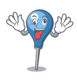 crazy clyster mascot cartoon style vector image vector image