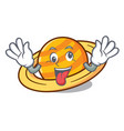 crazy planet saturnus mascot cartoon vector image vector image