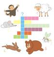 crossword summer vector image vector image