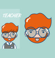 cute school teacher cartoon vector image