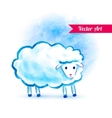 Cute watercolor sheep vector image