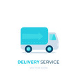 delivery service icon vector image