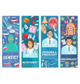 doctors and dentist medical staff vector image vector image