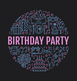 event agency birthday party banner with vector image vector image