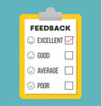 feedback questionnaire template flat design vector image